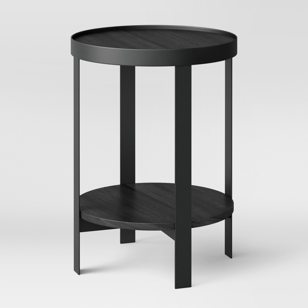 reihl metal round accent table black project products wine bar furniture imitation pottery barn side kmart bedroom modern coffee with drawers height chairs nautical pendant