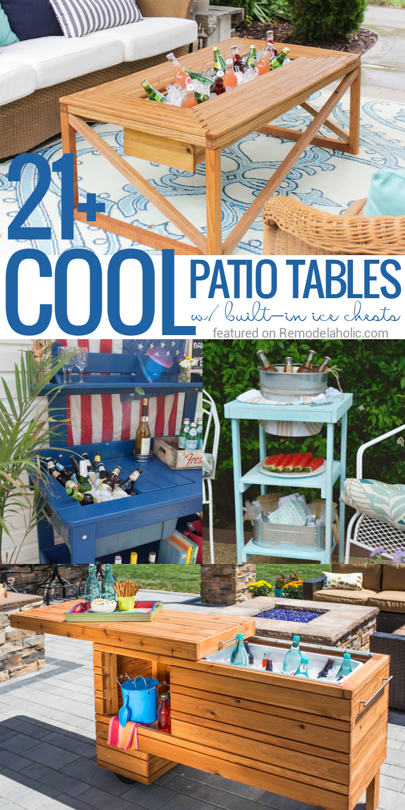remodelaholic brilliant diy cooler tables for the patio with built ice chests and sinks outdoor side table beverage coolers boxes small white round tablecloth counter height