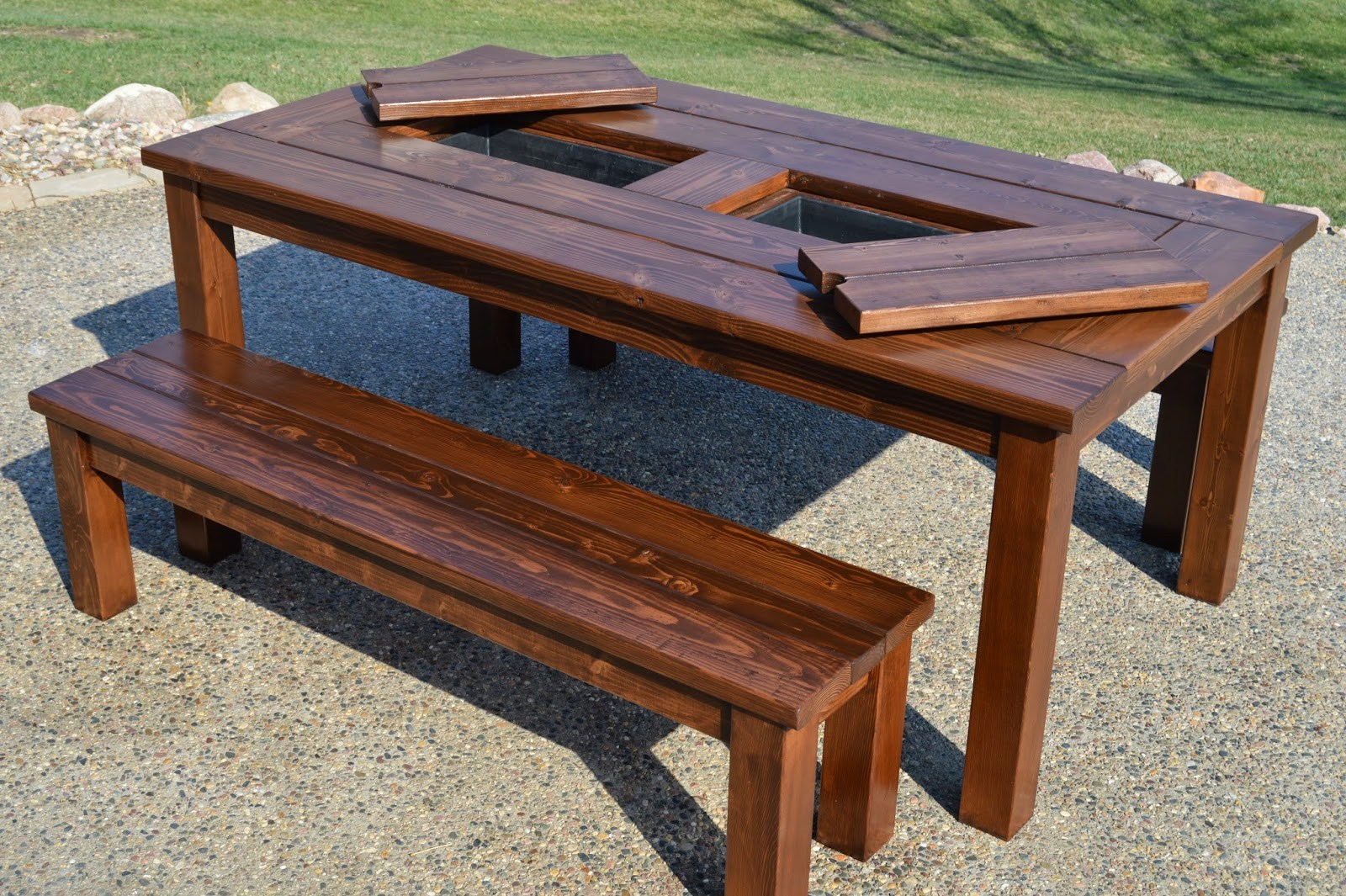 remodelaholic building plans patio table with built drink coolers witih kruses work outdoor side beverage cooler kruse accent chairs union jack furniture mid century modern