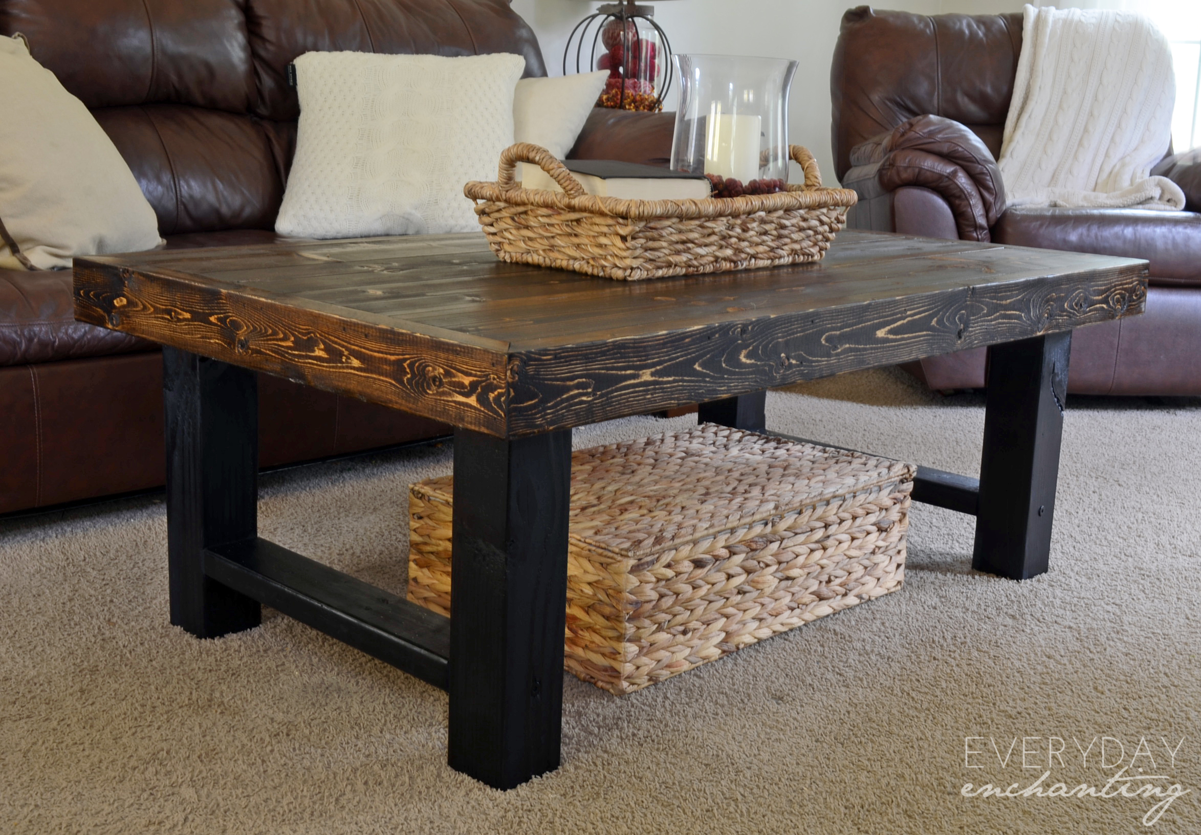 remodelaholic diy simple wood slab coffee table end tables pottery barn accent white marble nesting small plant brown metal storage night with cabinet and drawer home decor