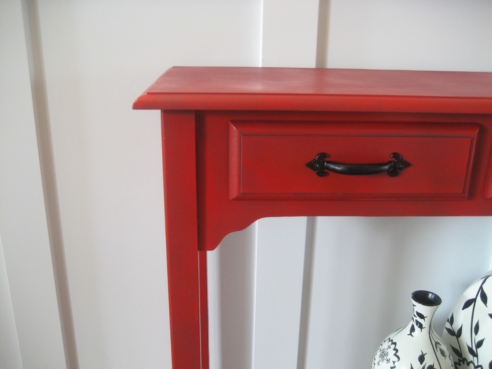 remodelaholic red painted and glazed accent table img drawer chest grill griddle grey end target acrylic side with shelf mini lanterns metal patio furniture sets white marble