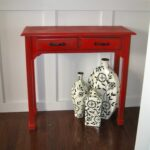 remodelaholic red painted and glazed accent table img wood big umbrellas for shade modern furniture coffee small end tables inexpensive console mirrored glass with shelf designs 150x150