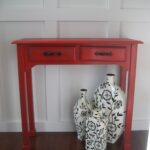 remodelaholic red painted and glazed accent table img wood target hourglass battery operated bedroom lights side with shelves wine glass cabinet dark coffee barbie doll furniture 150x150