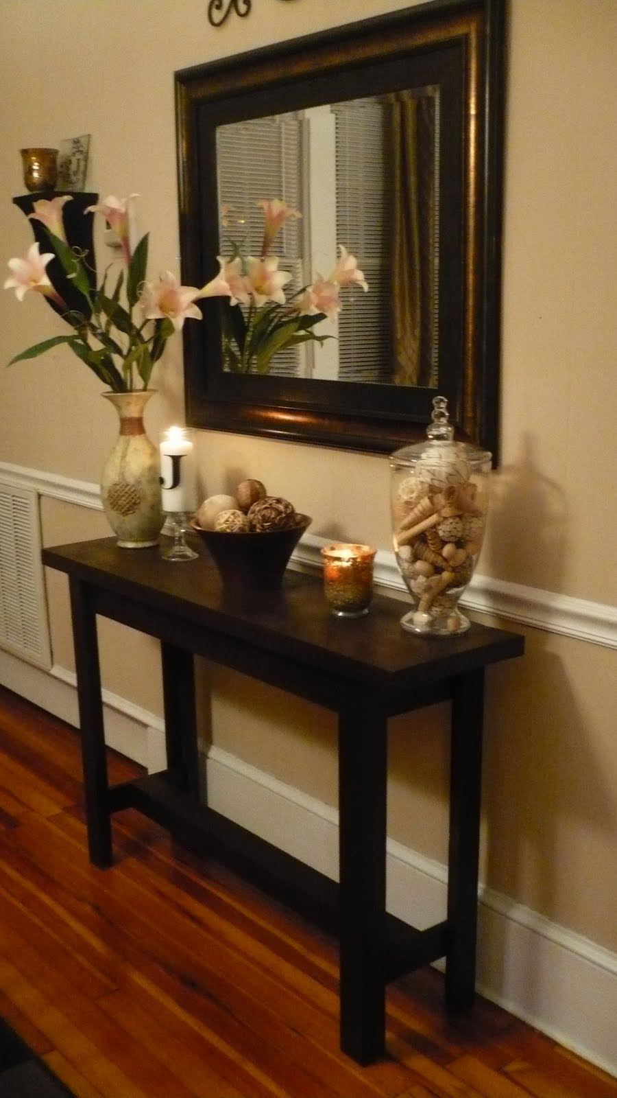 remodelaholic very consoling console table project guest accent and mirror set entryway bench ikea piece wicker patio chairside end round mosaic garden carpet door strip wood
