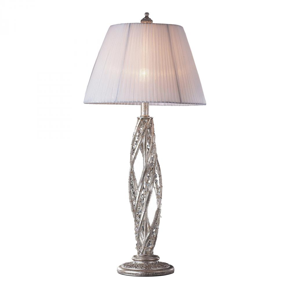 renaissance light table lamp sunset silver with crystal accents accent mirror design contemporary coffee tables toronto lighting portland white wicker glass top drum stick bag