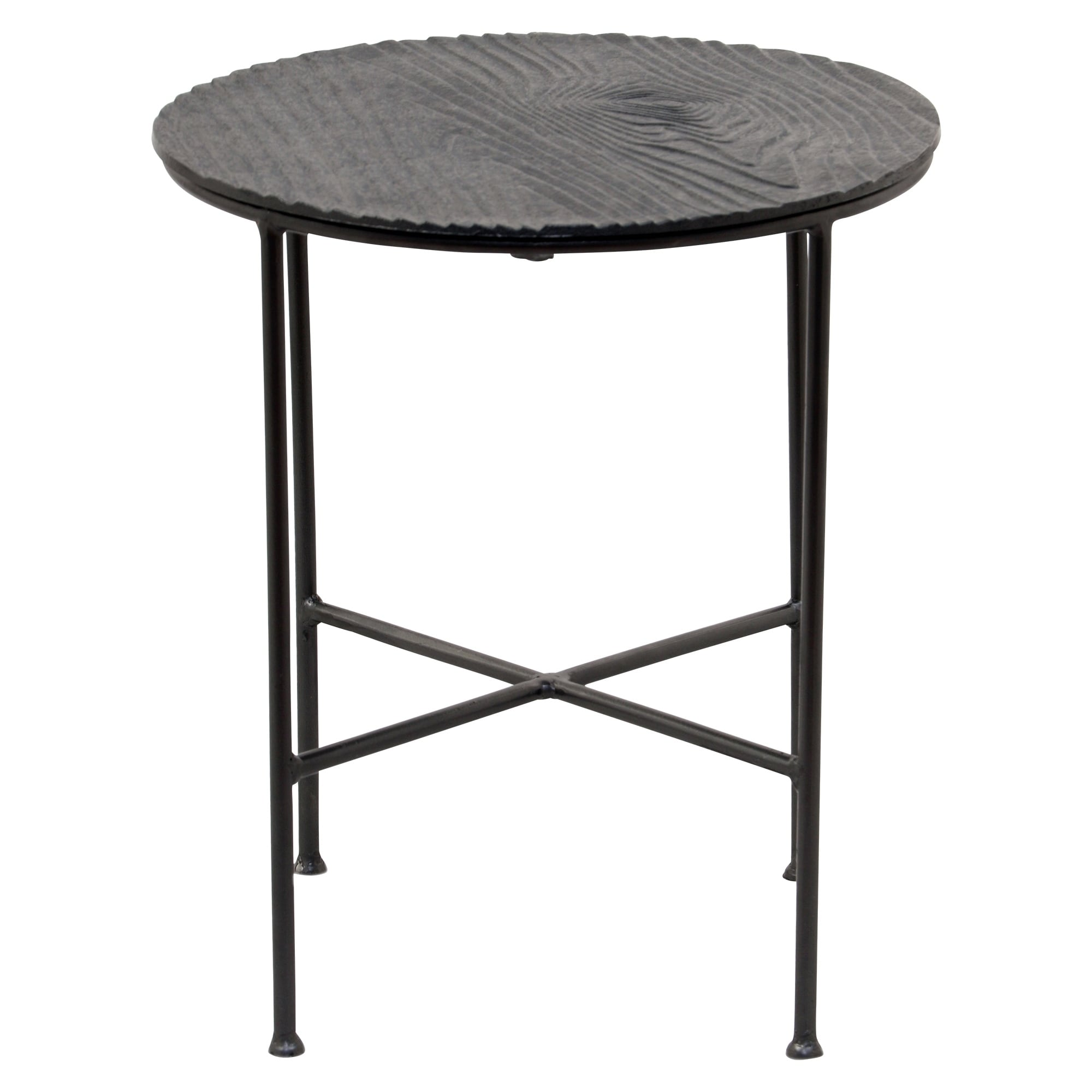 renwil bale grey aluminum round accent table free shipping safavieh janika off white today clearance wicker outdoor furniture demilune tennis wood console with drawers teak