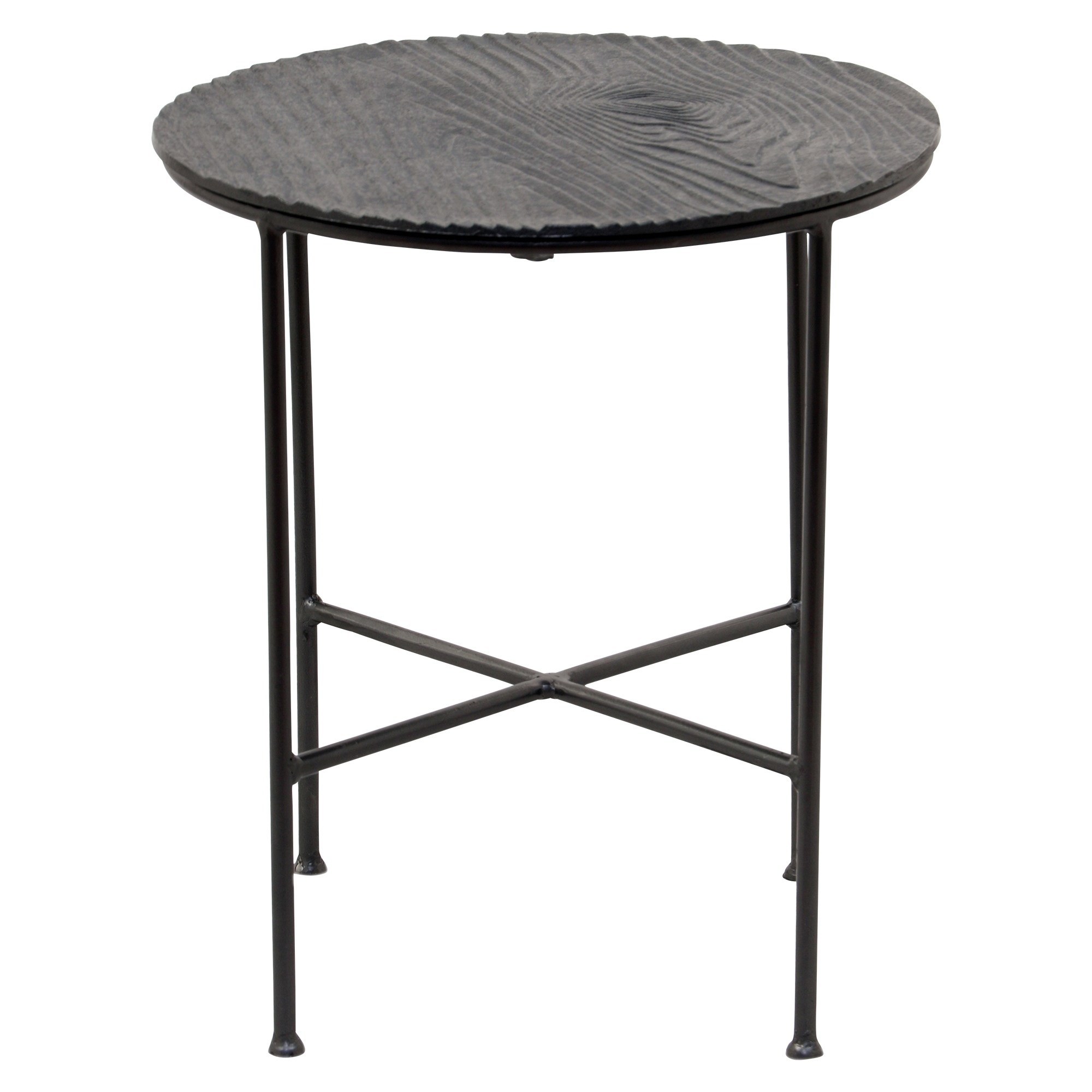 renwil bale grey aluminum round accent table free shipping today mini end modern tables for living room linens trestle base dining outdoor cooler woven coffee hadley with drawer