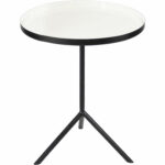 renwil chana round accent table white gloss black iron dining seats tall room sets barn door pantry skinny side ikea balcony and chairs kitchen large ginger jar lamps square 150x150
