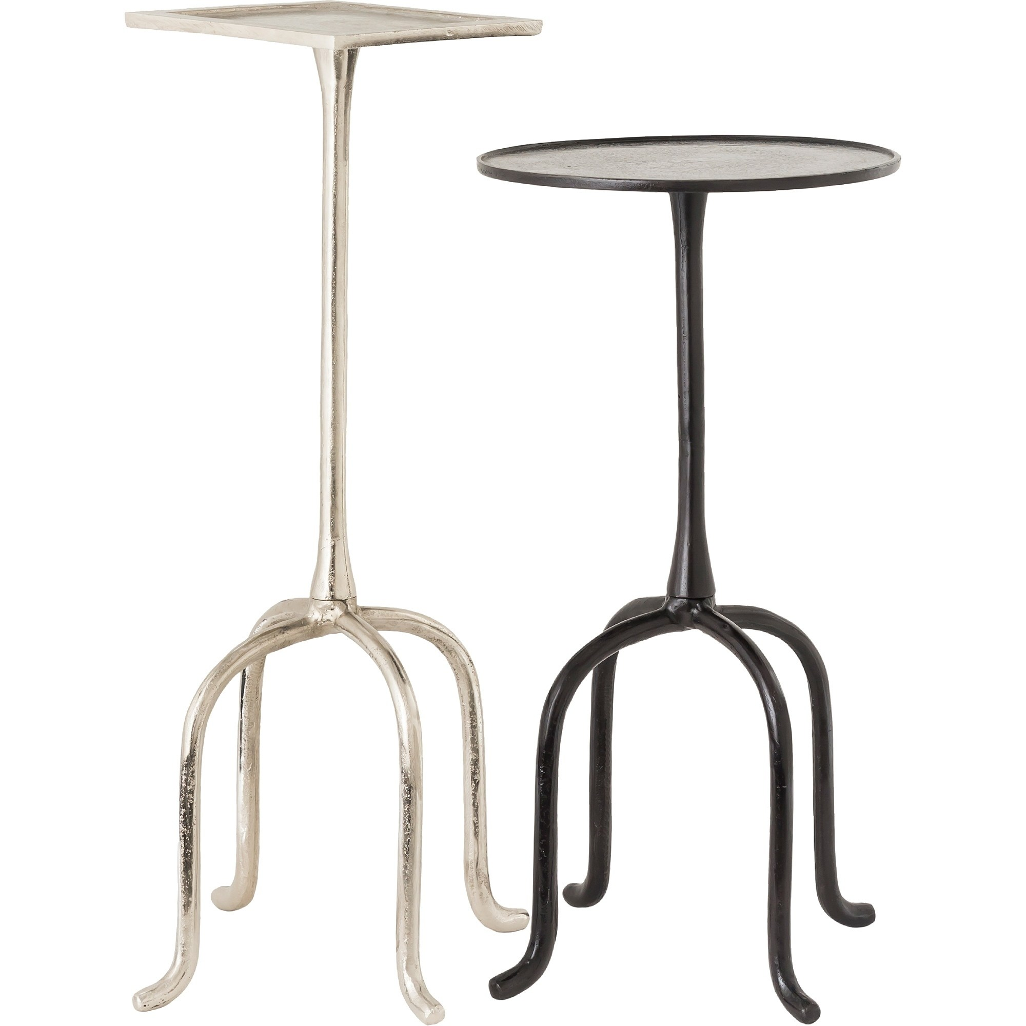 renwil darica aluminum nickel and bronze accent tables set vanora table free shipping today half circle coffee royal blue small balcony furniture sets piece patio living room