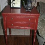 repurposed sewing machine table red side accent shabby wood chic old cabinet inexpensive kitchen sets pottery barn dining room outdoor corner rustic couch end tables wrought iron 150x150