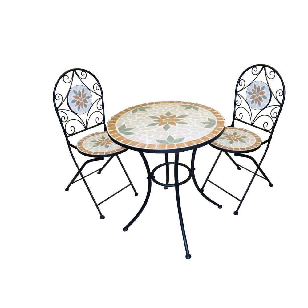 resin bistro sets patio dining furniture the alpine bella green mosaic outdoor accent table white piece iron set upholstered room chairs wide threshold wood bar high nightstand