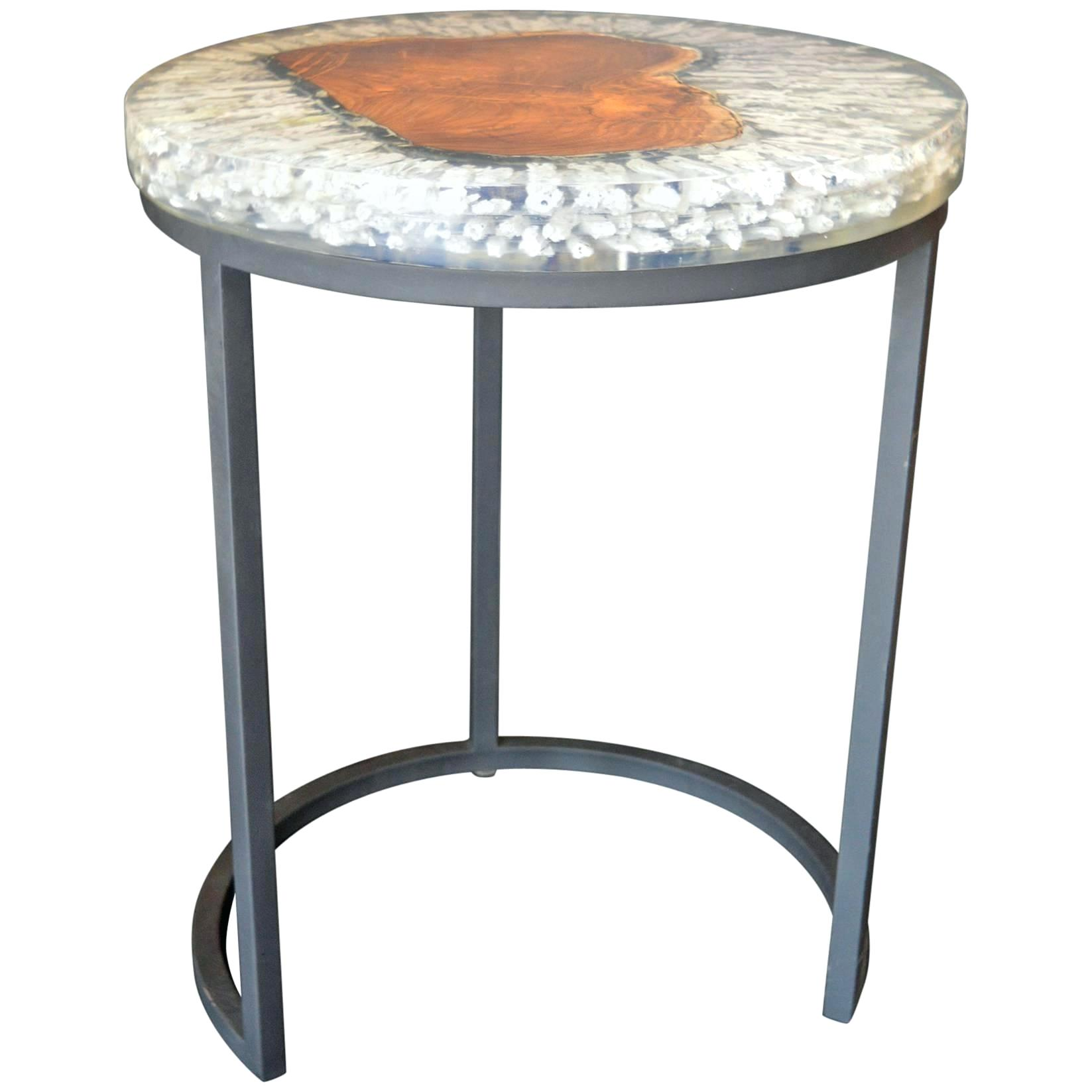 resin side table beau fort wicker outdoor geode wood and for plastic light shades reclaimed round coffee west elm armchair small square pedestal nautical night half moon console