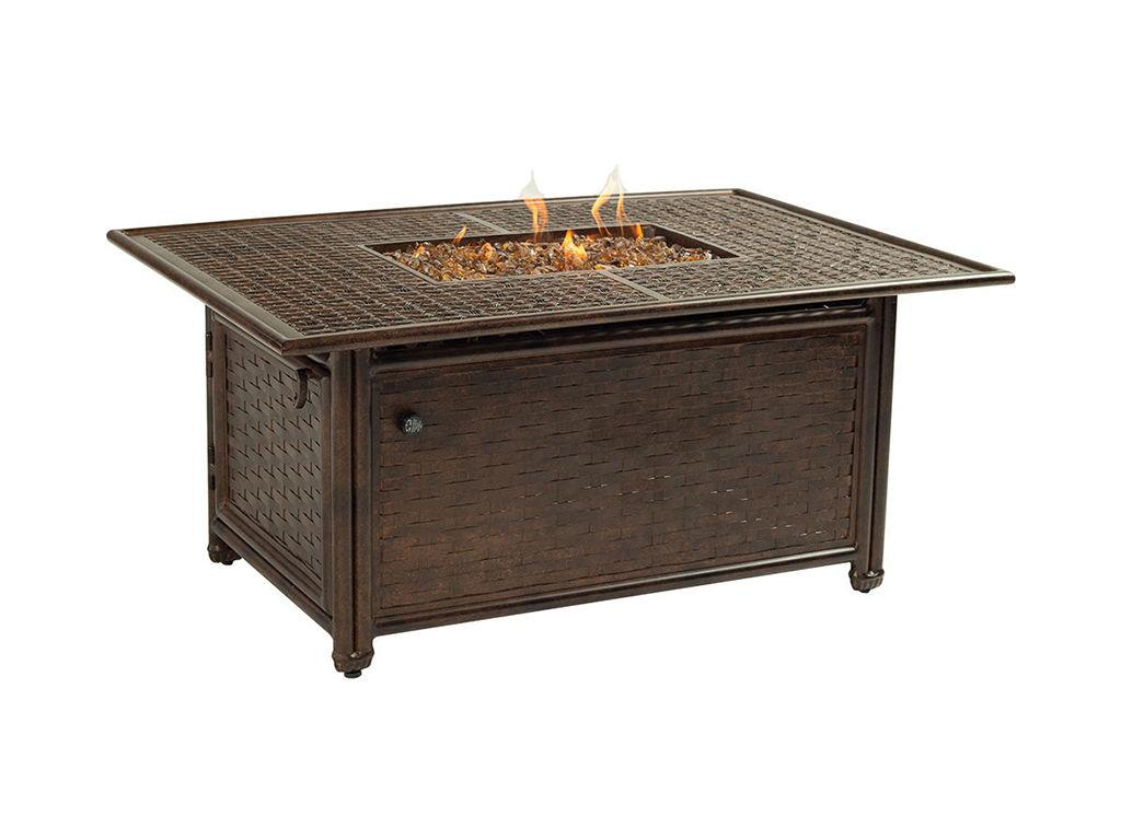 resort rectangular coffee table firepit hauser patio grill side outdoor target end tables gold and small asian lamps round accent tablecloth screw furniture legs piece living room