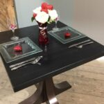 restaurant commercial organic interiors darktable accent table tables and tops metal console marble coffee brass pottery barn gold lamp black steel side coloured glass nautical 150x150