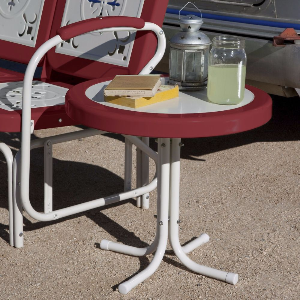 Red Outdoor Accent Table Grottepastenaecollepardo