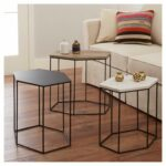 revamp your home decor with the whitney hexagonal accent table set hexagon target this occasional comes three coordinating pieces designed chair side tables living room placemat 150x150