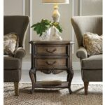 rhapsody wood two drawer accent table humble abode twodrawer accenttable hookerfurniture between chairs inch lamp cabbage rose tiffany white round farmhouse corner patio furniture 150x150