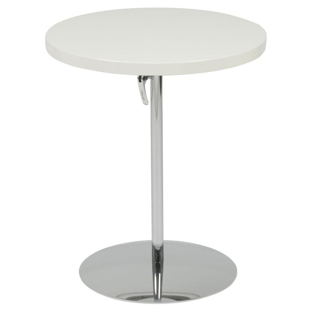 ricardo adjustable side table white lacquer chrome end tables italmodern accent decorative chairs lamps living room pottery barn unique round tablecloths small clear coffee