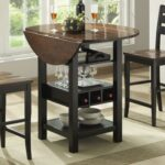 ridgewood drop leaf pub table with wine rack bernards wayside furniture products color dining accent home mini bar white chest antique black side outdoor drink cooler coffee 150x150