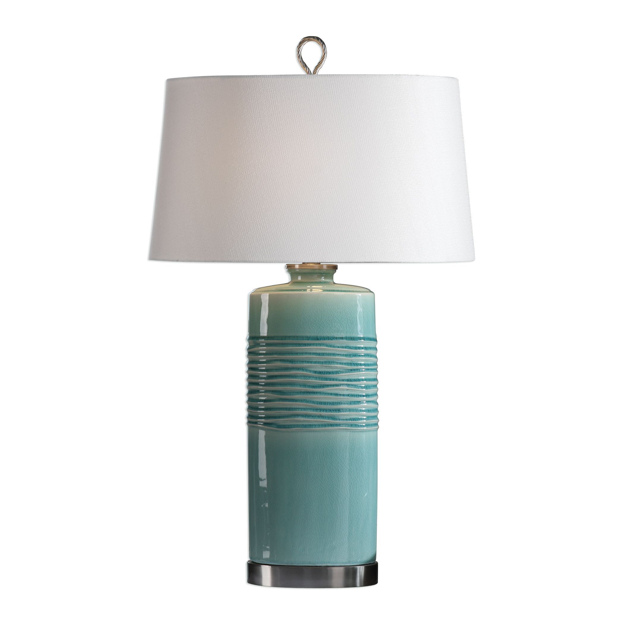 rila contemporary aquamarine crackled ceramic table lamp accent lamps uttermost antique ship lights inch round tablecloth butterfly bedside display cabinet pieces vintage and
