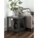 rio wooden side accent table with lower shelf dark gray wood mini coffee yellow pieces perspex occasional tables copper long nightstand barnwood ideas linen covers black marble 150x150