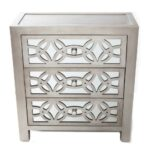 river goods glam slam drawer silver cabinet the nightstands mirrored glass accent table with white wall clock wireless lamps small wine west elm industrial console high top rack 150x150