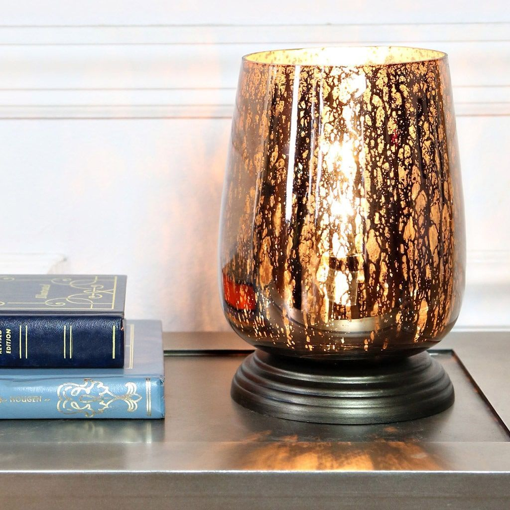 river goods inch taupe handblown mercury glass uplight accent table lamps lamp tan iron decor patio set with fire pit bedside yard furniture square bathroom chest drawers teak