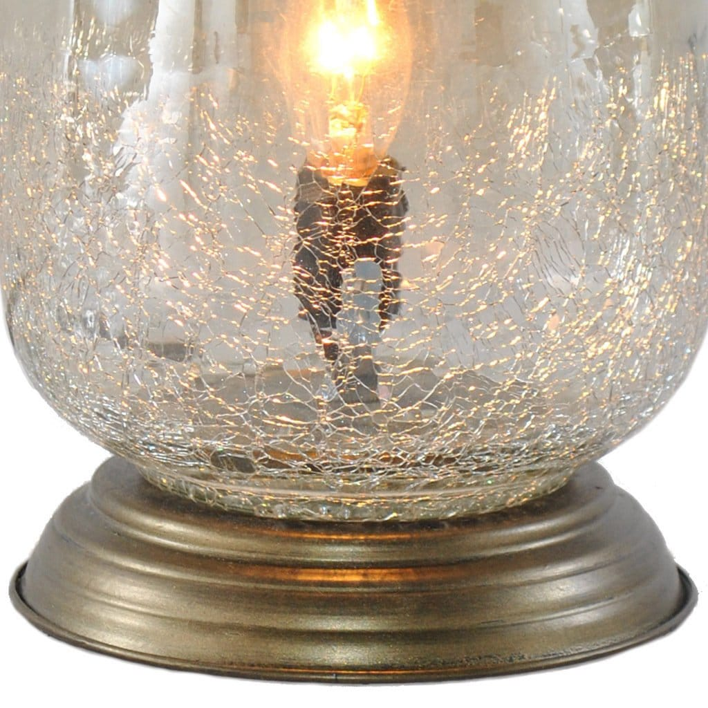 river goods metallic smoke crackled glass inch handblown accent table lamp uplight lamps free shipping today indoor door mats vintage tiffany antique end tables with leather inlay
