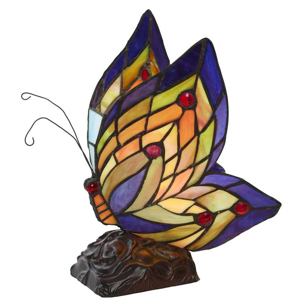 river goods multi colored stained glass butterfly wings novelty lamps accent table lamp end tablecloth metal coffee and tables outside chairs clearance deck furniture unique home