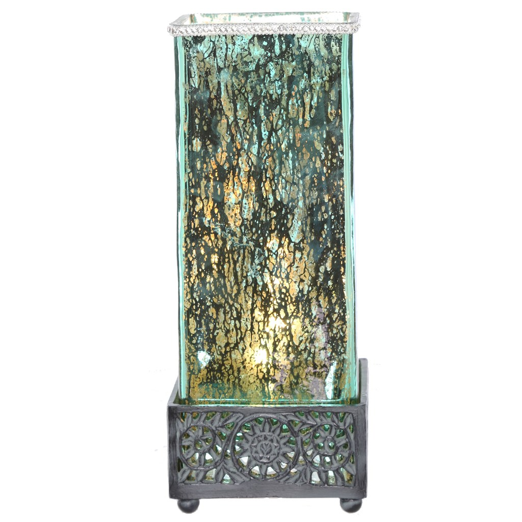 river goods studio art mercury glass and metal jeweled uplight inch high square table lamp accent lamps free shipping orders over desk ikea marble top small pedestal decor bedside