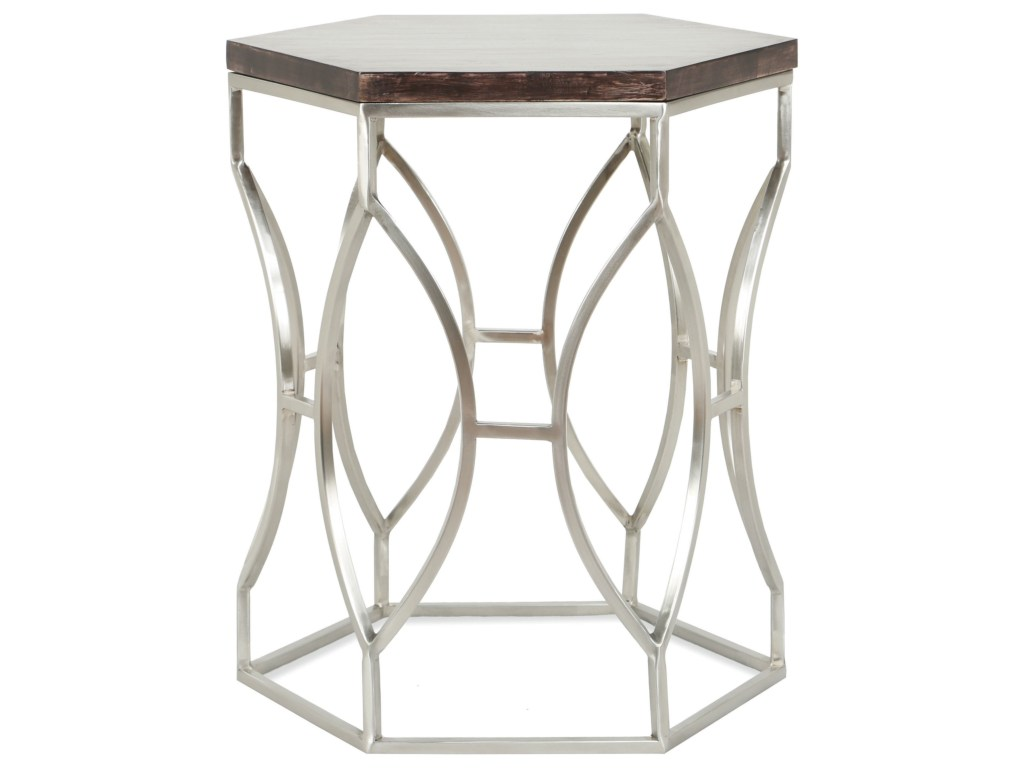 riverside furniture barron hexagon side table with french roast wood products color threshold accent barronhexagon aqua chair hampton bay wicker nursery vinyl floor edge trim
