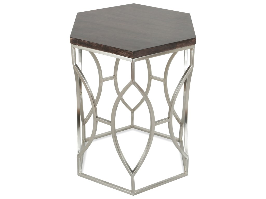riverside furniture barron hexagon side table with french roast wood products color threshold umbrella accent top white glass coffee small battery lamps outdoor sideboard large