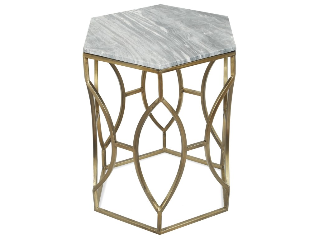 riverside furniture barron hexagon side table with marble top products color threshold accent dunk bright end tables heavy duty umbrella base hampton bay wicker wooden trestles