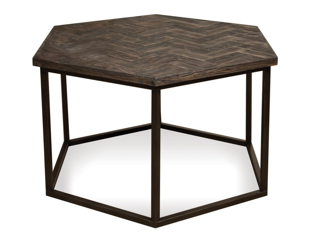 riverside furniture chevron hexagon coffee table metal base products color threshold accent gill brothers cocktail tables granite top end italian home decor wrought iron with