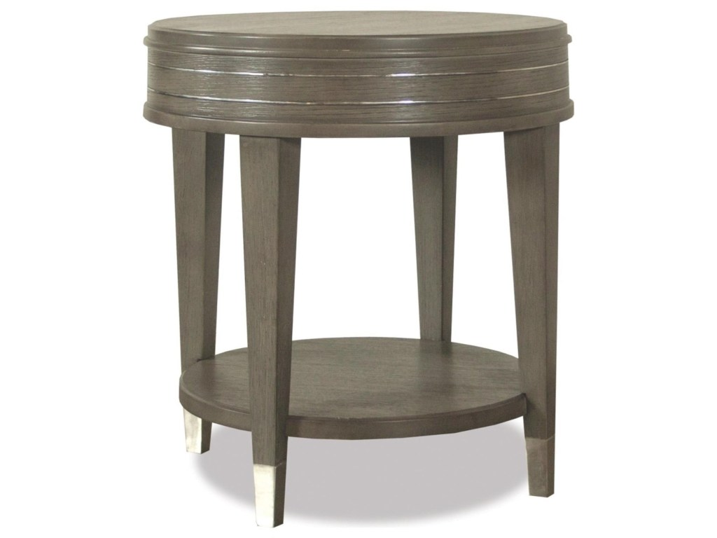 riverside furniture dara round end table with mirrored accents products color two accent ottawa iiround vintage and chairs narrow bedside drawers modern metal glass coffee inch