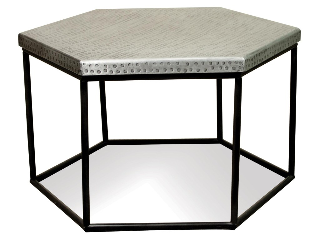 riverside furniture lyric hammered metal hexagon coffee table products color threshold accent lyrichexagon wooden trestles low ikea windham small end tables nursery vinyl floor