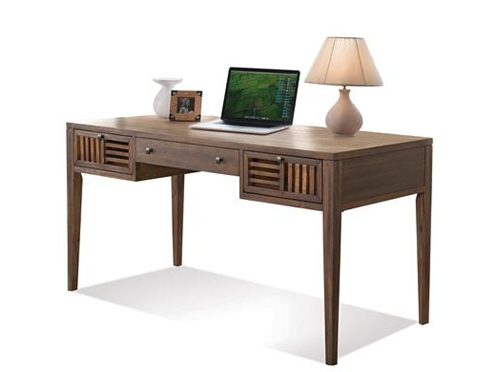 riverside furniture modern gatherings parquet writing desk rooms products color threshold accent table gatheringsparquet half circle console small battery powered lamp night solid