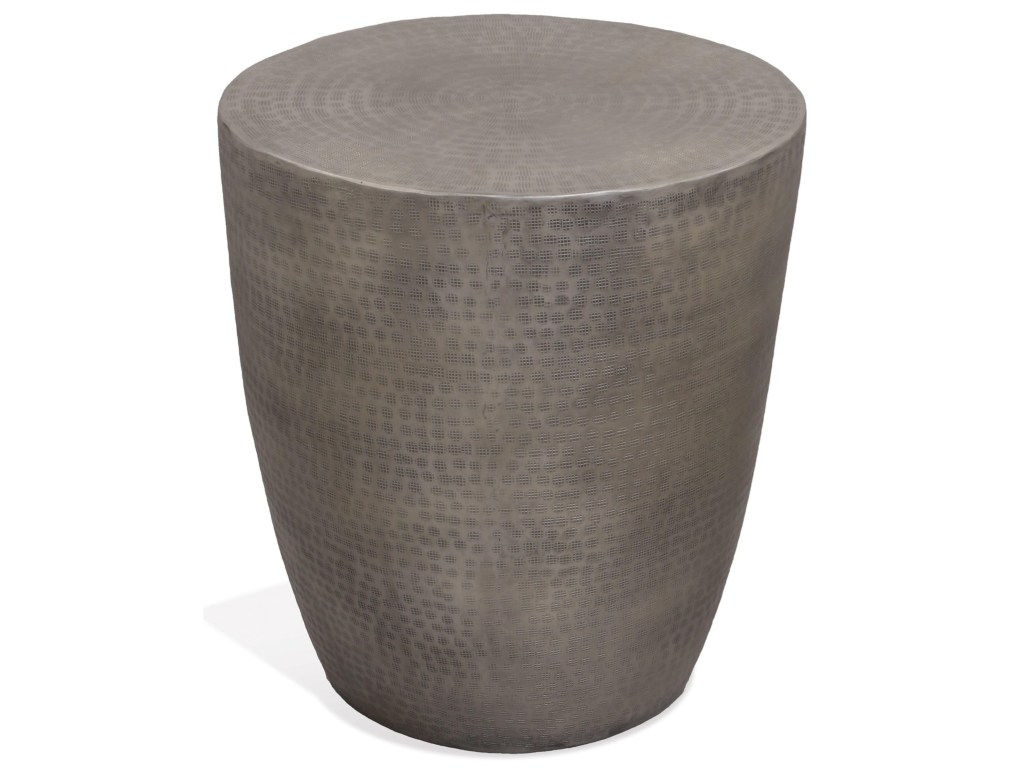 riverside furniture nadene aluminum drum end table powell products color storage accent nadenedrum dining napkins cabinet marble coffee ocean themed lamp shades piece nest tables