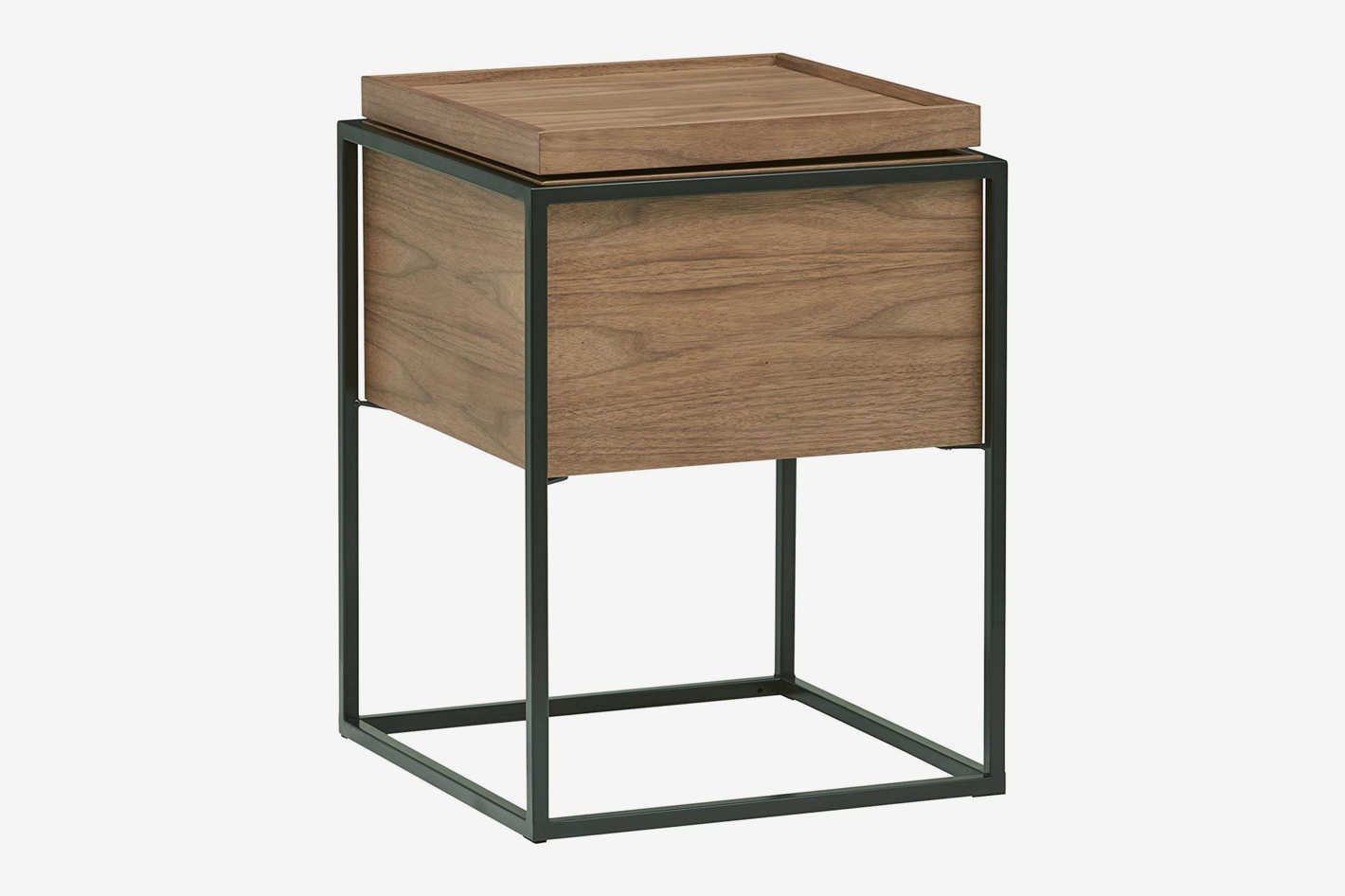 rivet furniture line accent table west elm axel lid storage wood and metal side target kitchen acacia coffee half wall shallow console linens modern black end round occasional