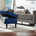 rivet revolve modern accent chair denim kitchen dining chairs with table loveseat sectional velvet tweed fabric couch chaise battery operated reading light decorative storage 150x150