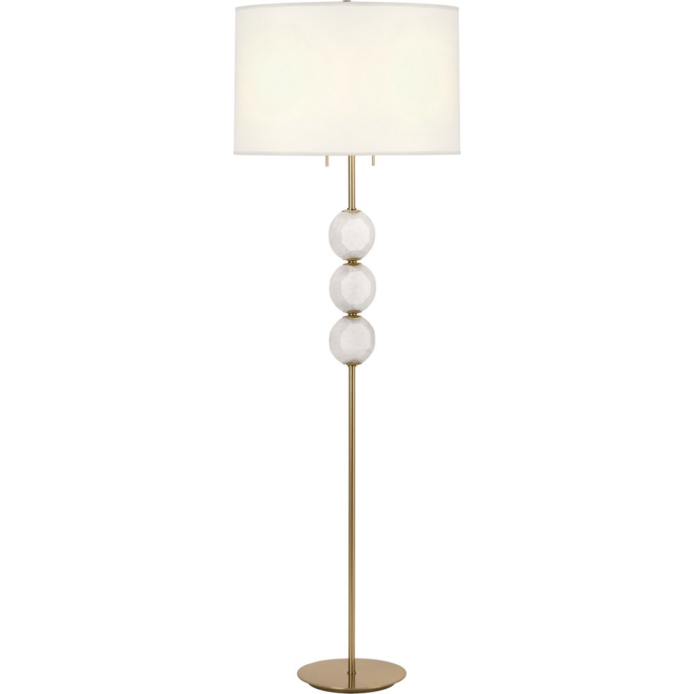 robert abbey lighting hope floor lamp modern brass finish crystal accent table with white rock accents green bedside antique marble top corner occasional square tablecloth sizes