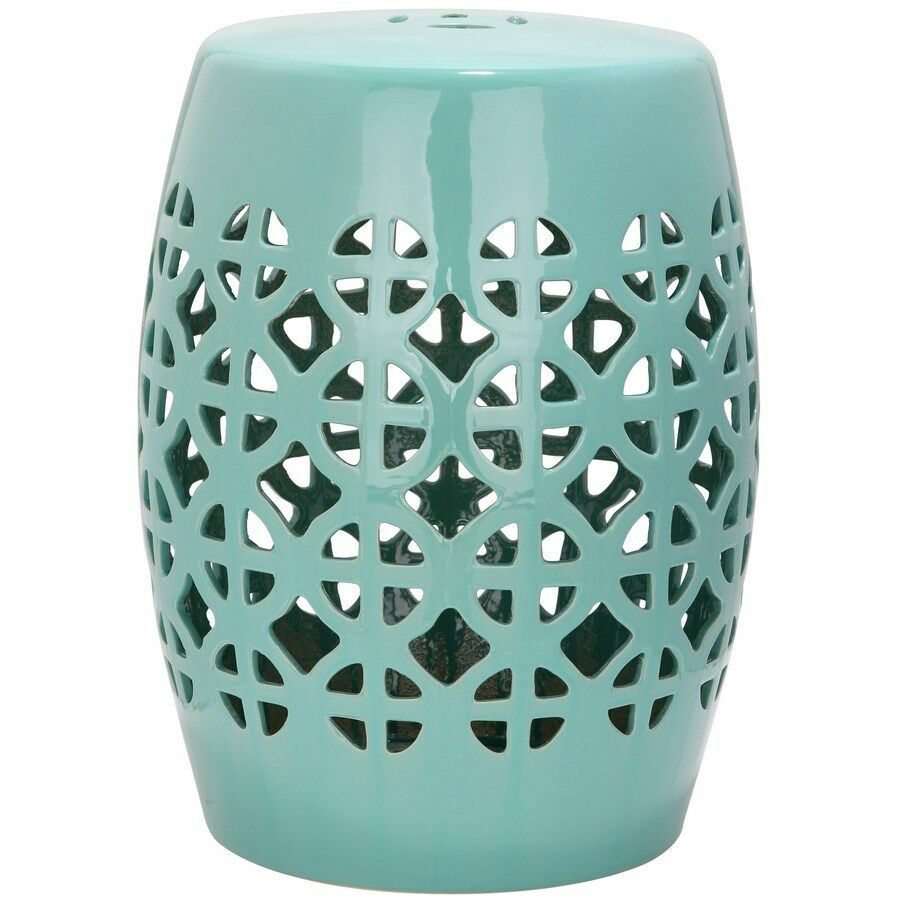 robins egg blue ceramic barrel outdoor side table plant stand details about garden stool mila square accent target plastic chairs accents contemporary lamps for living room white