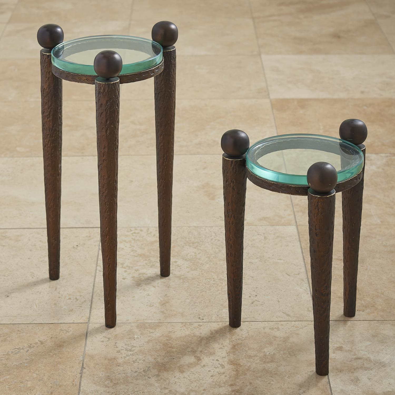 rock accent table bronze metal tables pier imports end deck furniture covers winchester astoria grand pink side pottery barn dining mosaic garden bench homesense bar stools round
