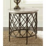 rockvale stone top round end table greyson living free outdoor mosaic accent shipping today bar height patio furniture unique rustic tables lift coffee dale home crystal lamp 150x150