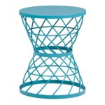 rodney metal accent table turquoise simpli home axcmtbl outdoor furniture seat covers white round tray modern lamps for living room square card tablecloth mid century coffee red 150x150