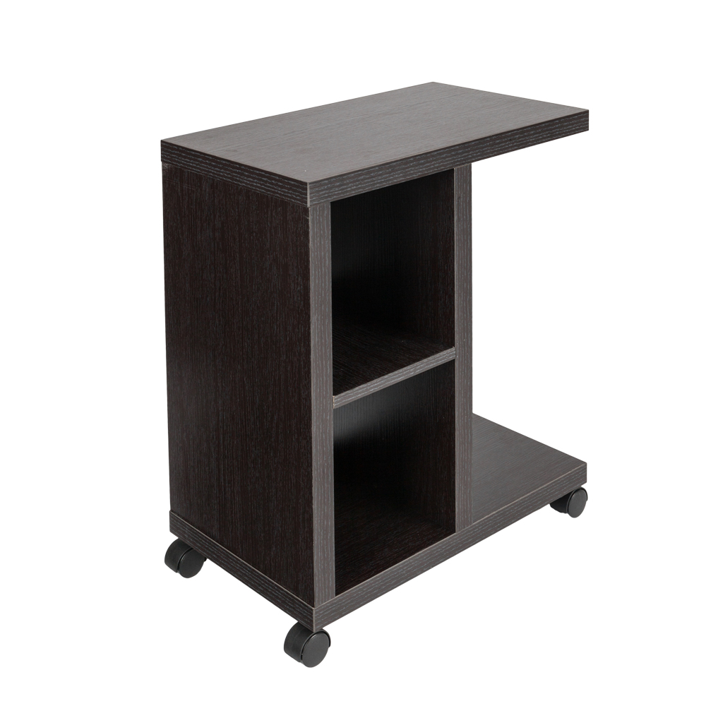 rolling accent tables end table with storage shelf espresso side drawer and night stand steel hairpin legs home furniture tool backyard patio square coffee toronto rose gold