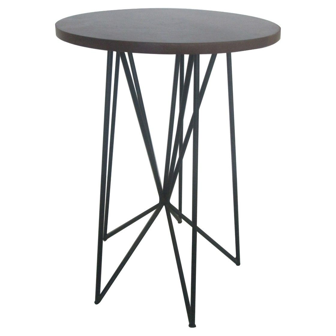 room essentials mixed material accent table black furniture mid century dining chairs windham coffee tiffany shades tall small round modern floor lamp with attached door console