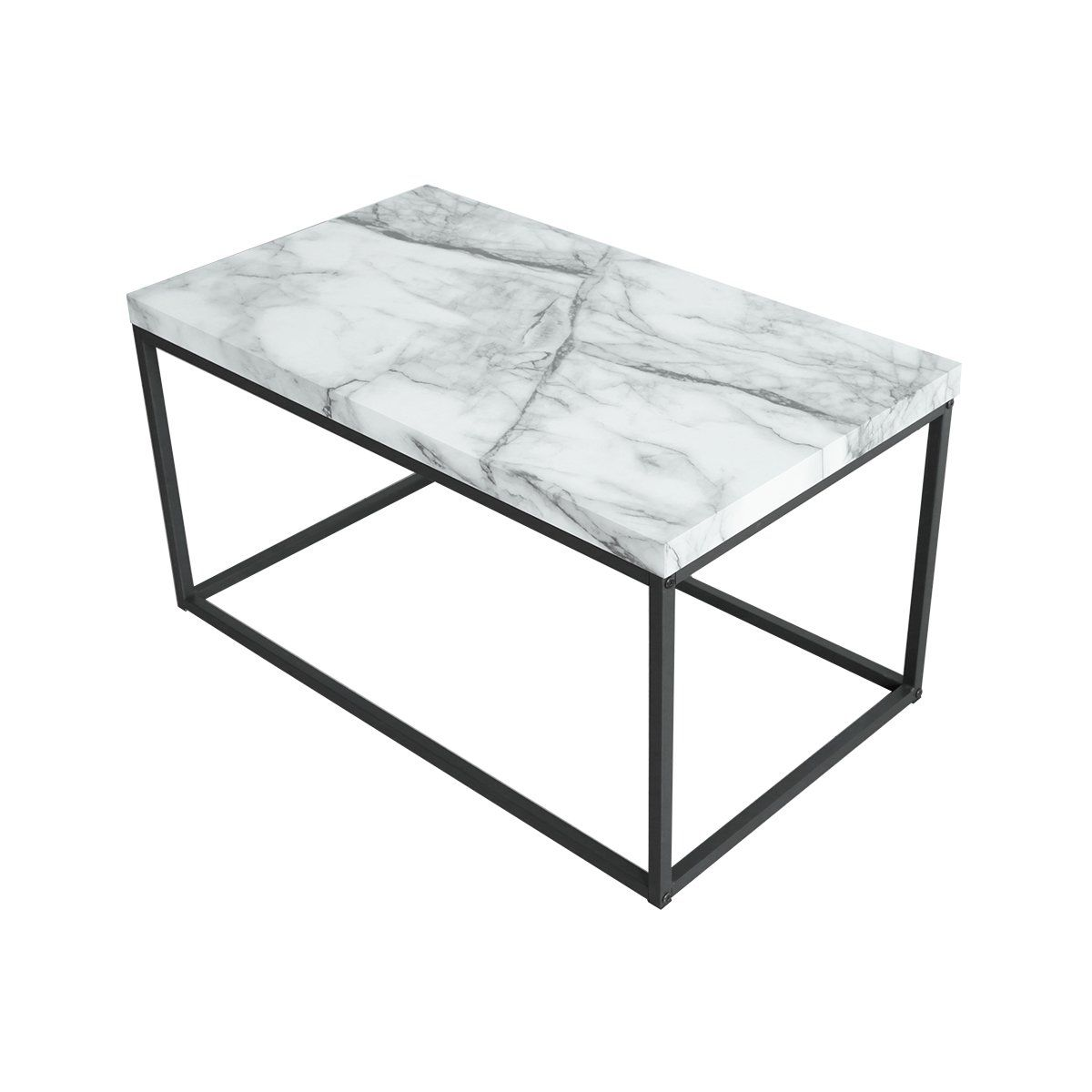 roomfitters faux marble top coffee table living room essentials accent rectangle cocktail tablewhite west elm box frame pier one small tables pottery barn chairs rattan dining
