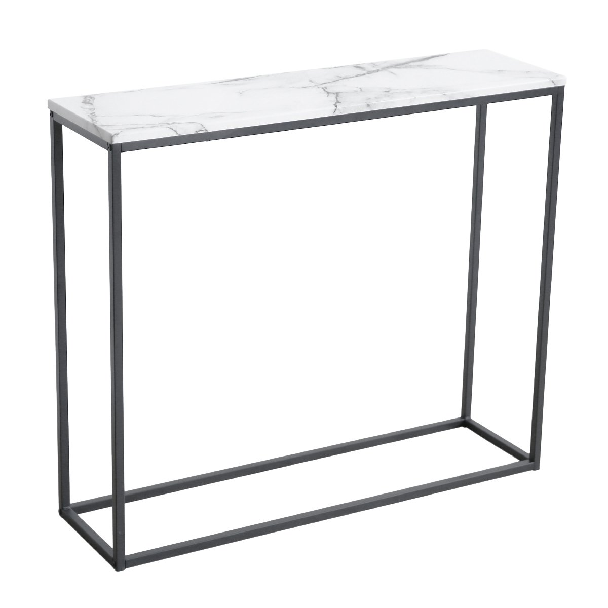 roomfitters sofa console table marble print top metal hooper accent frame white narrow foyer hall kitchen dining traditional cherry furniture unique bedside tables entryway
