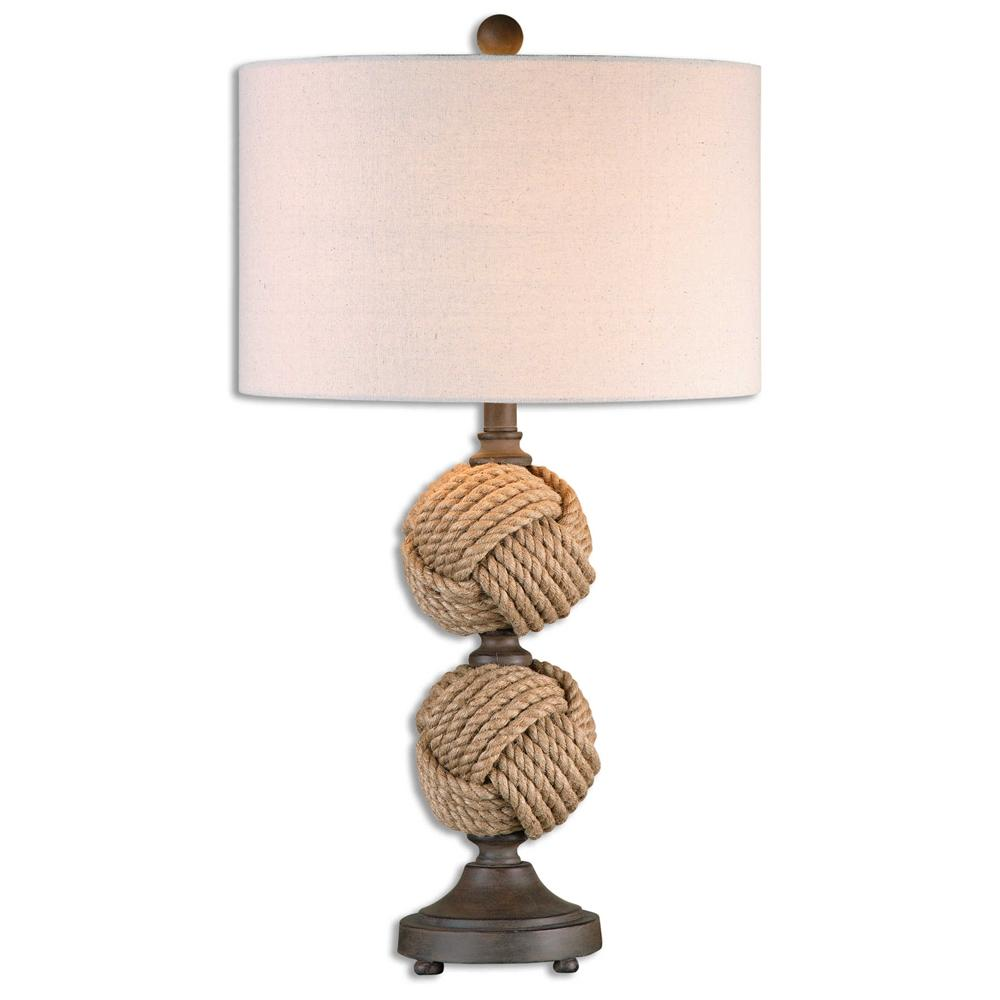 rope ball table lamp seaside beach coastal and drum shade nautical accent lamps homemade wood coffee sofa ping antique kidney patio rectangular trestle entry mirror set dark